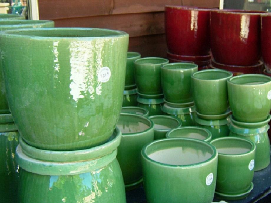 Glazed Ceramic Pots Drip Glazing Tree Planters Aquatic