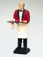 fibreglass waiter statues