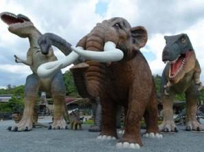 Fibreglass dinosaur statues