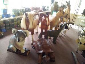 Fibreglass animal statues
