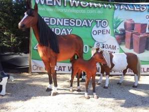 Fibreglass horse statue