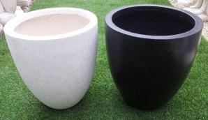 Fibreglass Tall round planters