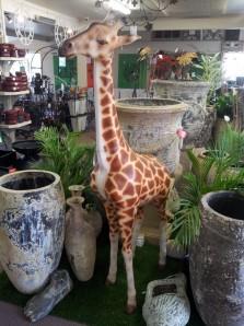 Fibreglass giraffe statue