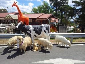 Fibreglass farm animal statues