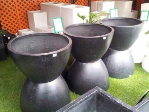 Fibreglass Planters - Giant egg planters