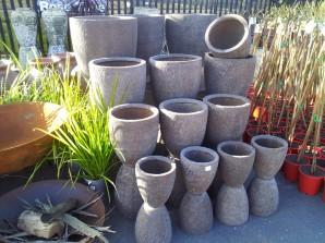 Fibreglass Planters - Dark Rustic